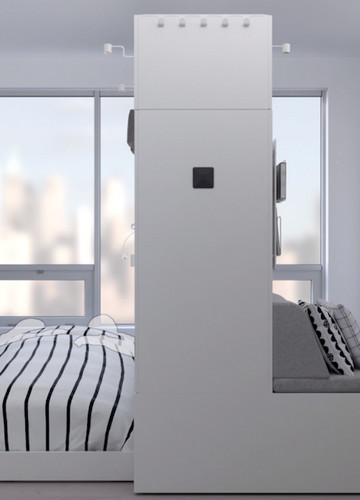 Ruchoma Meblościanka Od Ikea W Niej Lampka Biurko łóżko