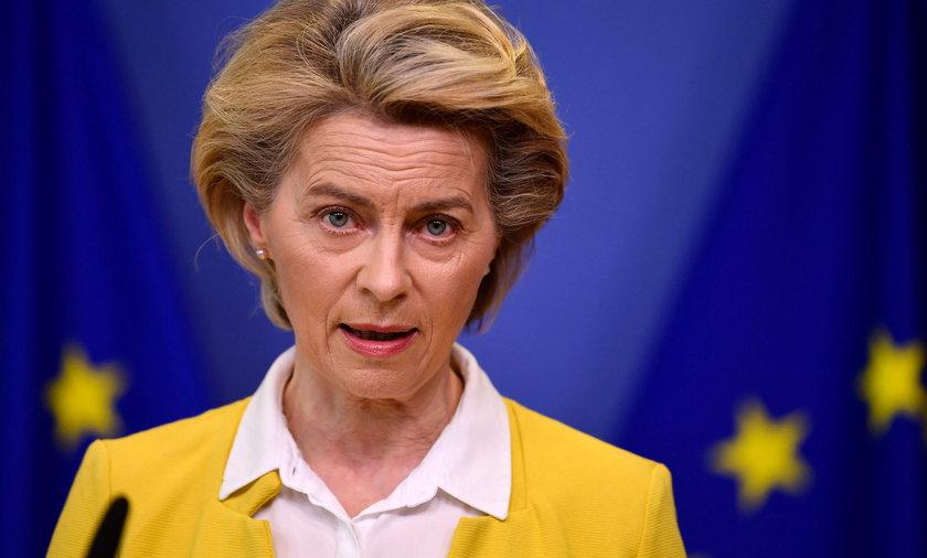 Przewodnicząc Komisji Europejskiej Ursula von der Leyen.