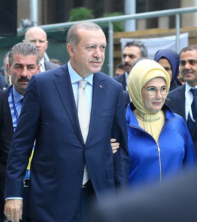 Emina i Redžep Tajip Erdogan pre mesec dana u Njujorku