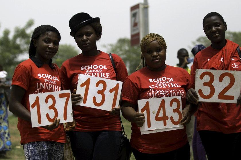 Studenci domagający się uwolnienia licealistek z Chibok