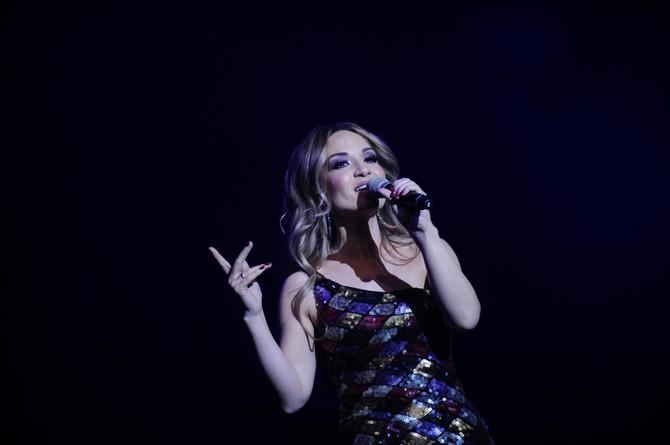 Jelena Tomašević Bosiljčić na koncertu u Beogradu