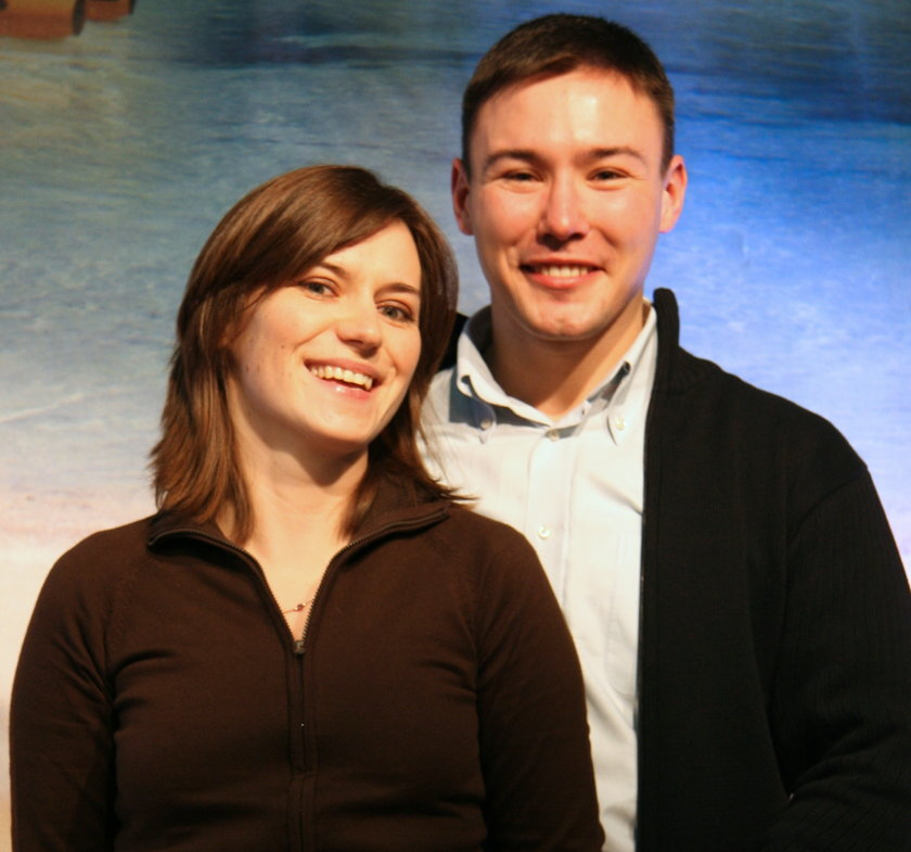 Agnieszka Pomaska i jej mąż Maciej Krupa