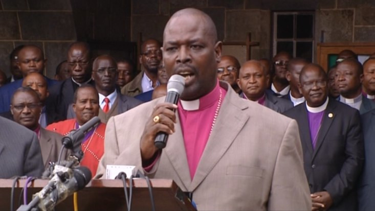 Anglican Church of Kenya Archbishop Jackson Ole Sapit. Mumias ACK Bishop Joseph Wandera has abolished Saturday and Sunday funerals for church members  in Mumias