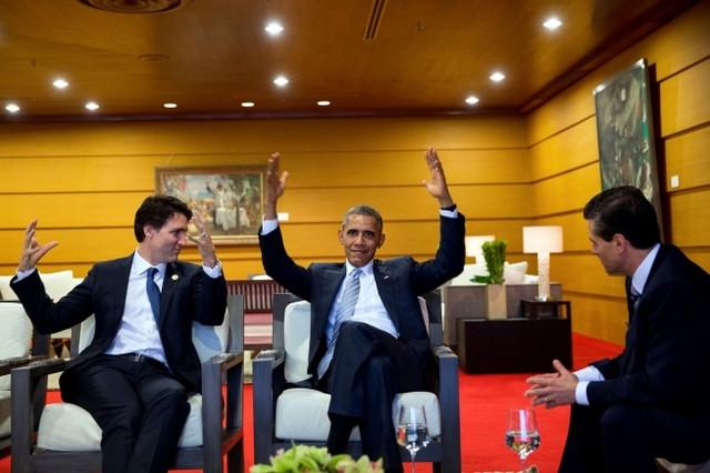 Džastin Trudo, Barak Obama, Enrike Penja