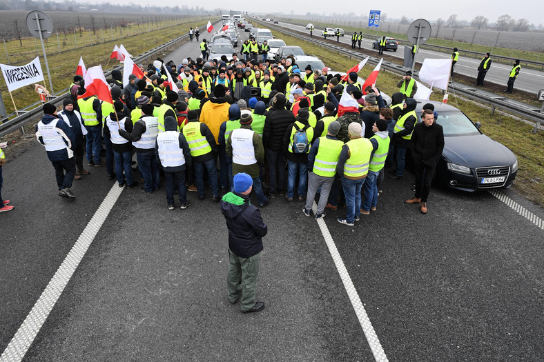Protest na A2