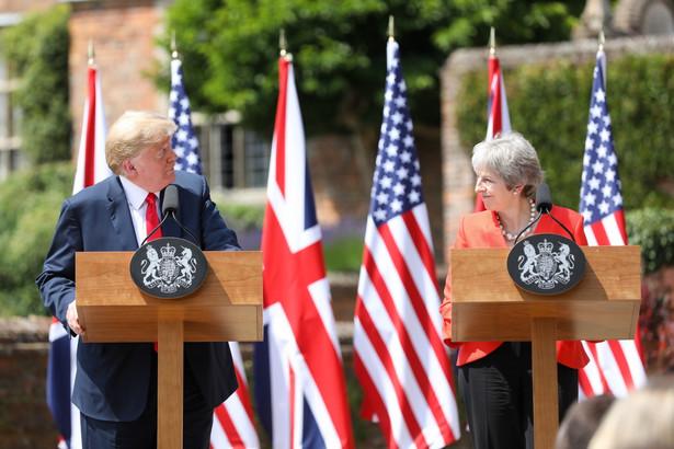 Donad Trump i Theresa May