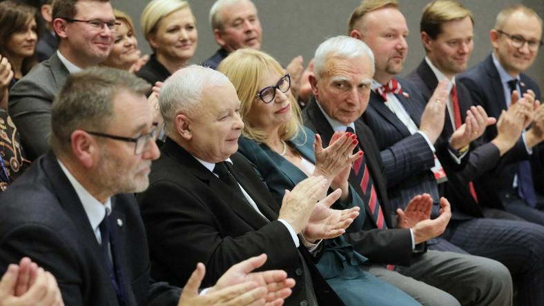 Jarosław Kaczyński Małgorzata Gosiewska Piotr Naimski