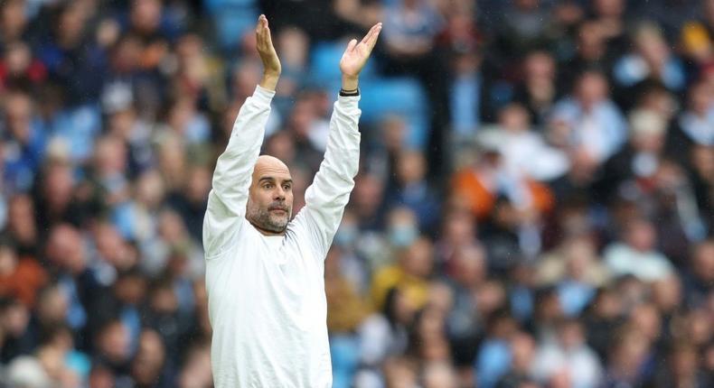 Manchester City manager Pep Guardiola Creator: Adrian DENNIS