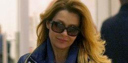Znana aktorka w sklepie w ciemnych okularach. Co się stało?