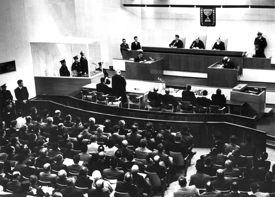 Sala sądowa podczas procesu Adolfa Eichmanna