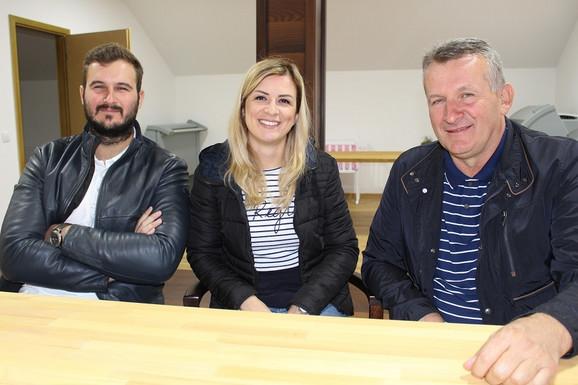 Zoran Subotić sa ćerkom Romanom i sinom Markom.