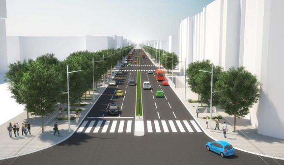Projekat sa šest saobraćajnih traka