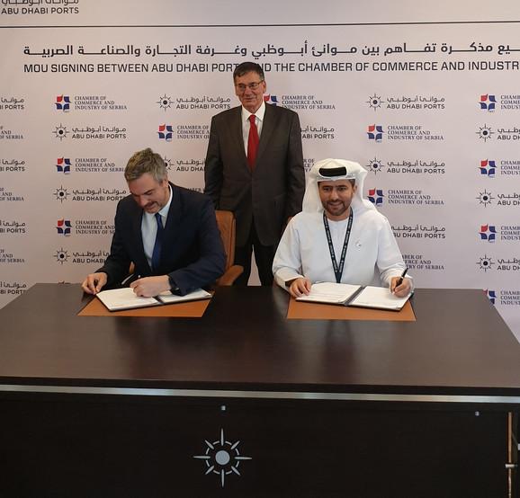 Potpisivanje sporazuma o saradnji između Privredne komore Srbije i Saveta slobodnih zona Dubaija