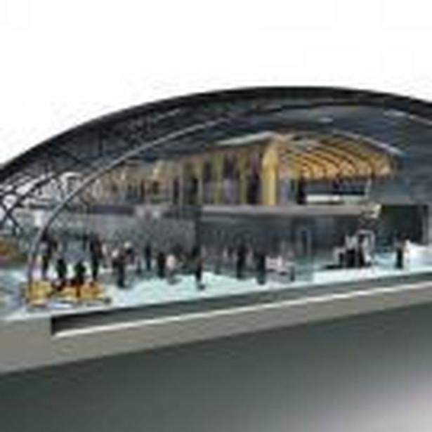 Tak w przekroju będzie wyglądał terminal w Modlinie