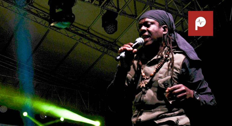 Richie Spice on stage at KICC