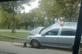 Bulevar vojvode Mišića saobraćajna nezgoda