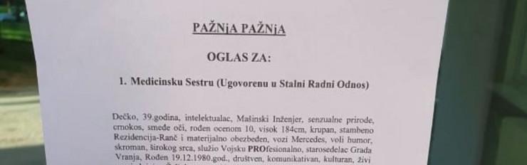 Oglas Vranje