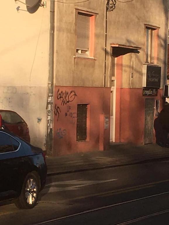 Nacistički simboli na fasadama zgrada