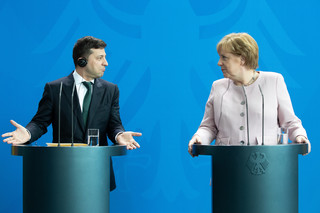 Zełenski w Berlinie: Na temat Nord Stream 2 mamy z Merkel odmienne zdania