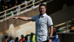 Maltese coach Dylan Kerr won the South African FA Cup in just his second match as TTM coach. Creator: Yasuyoshi CHIBA