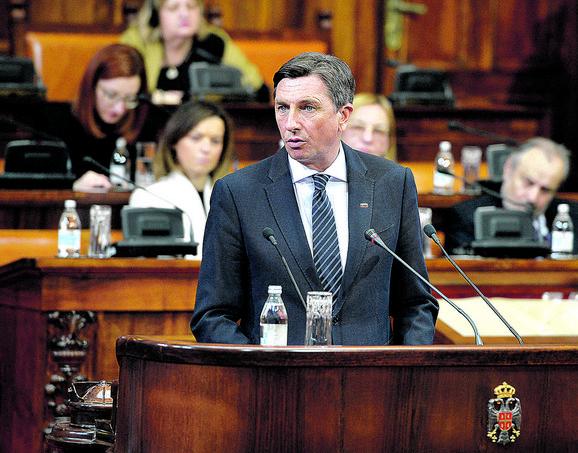 Borut Pahor, predsednik Slovenije u Skupštini Srbije