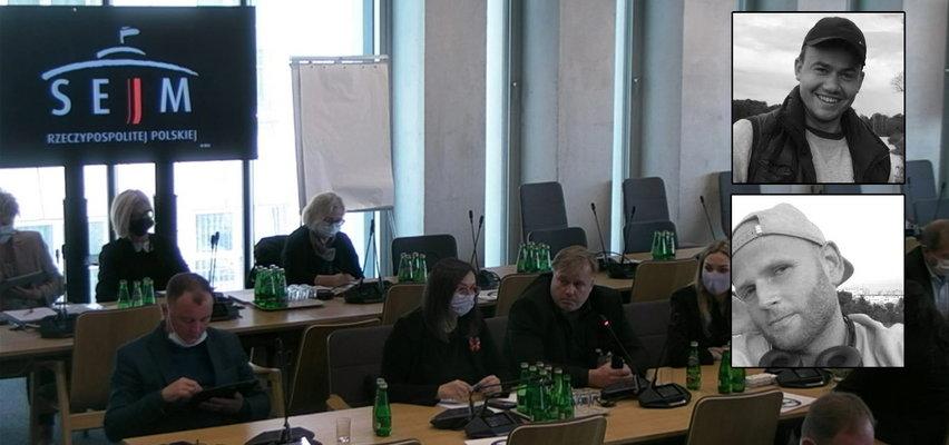 Ojcowie Bartka z Lubina i Łukasza z Wrocławia wystąpili przed sejmową komisją. Z policji nikt nie przyszedł