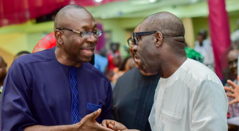 Edo Election: Obaseki, Ize-Iyamu argue over rumoured resignation of Edo PDP chairman