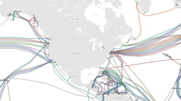 Karta internet kablova u SAD
