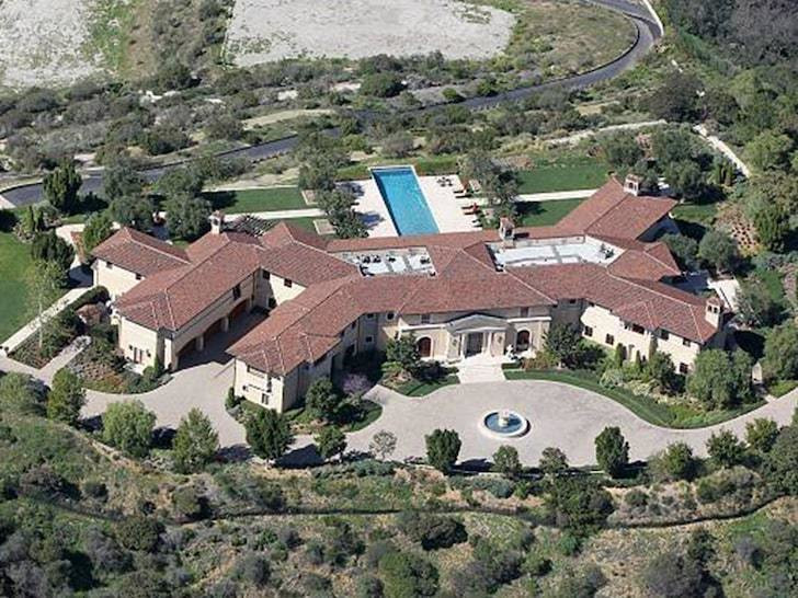 According to TMZ, the palatial home is insanely spacious with 8 bedrooms and 12 bathrooms. [TMZ]