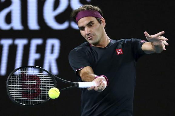 Rodžer Federer na meču sa Filipom Krajinovićem