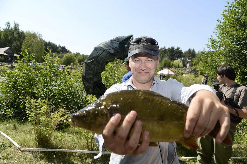 Wojciech Majchrzak z rybą