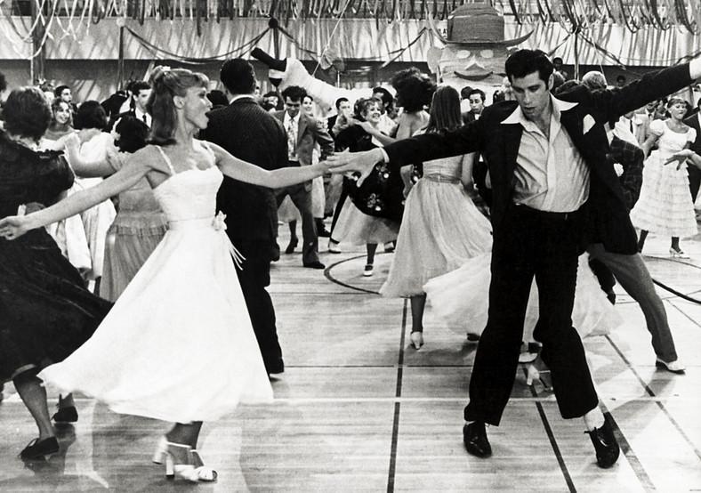 """John Travolta i Olivia Newton-John w """"Grease"""""""