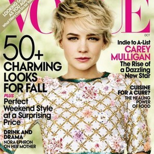Carey Mulligan jak Michelle Williams - okładka Vogue