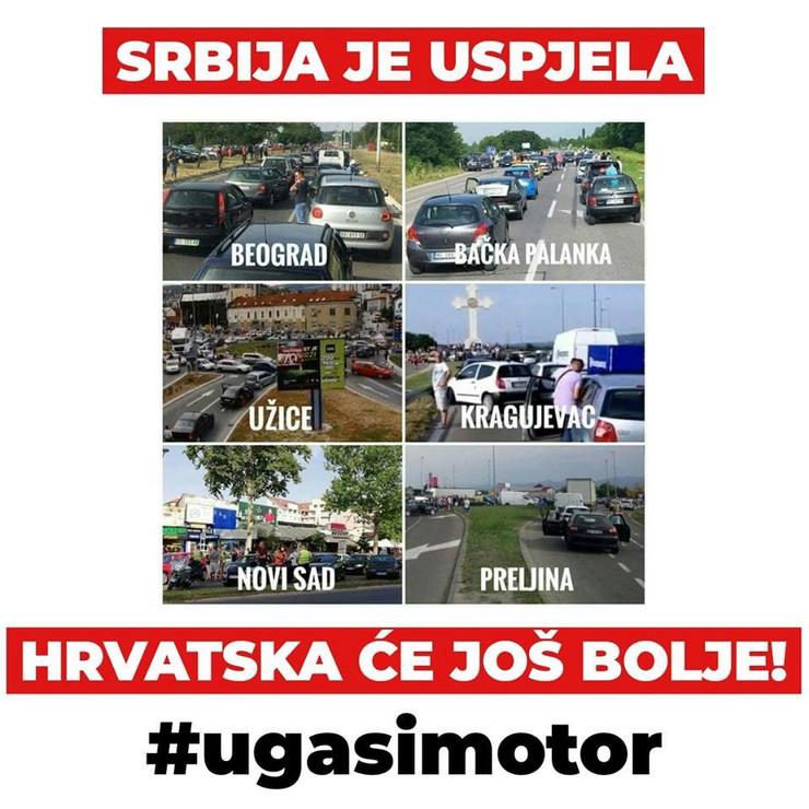 Blokada saobraćaja u Hrvatskoj