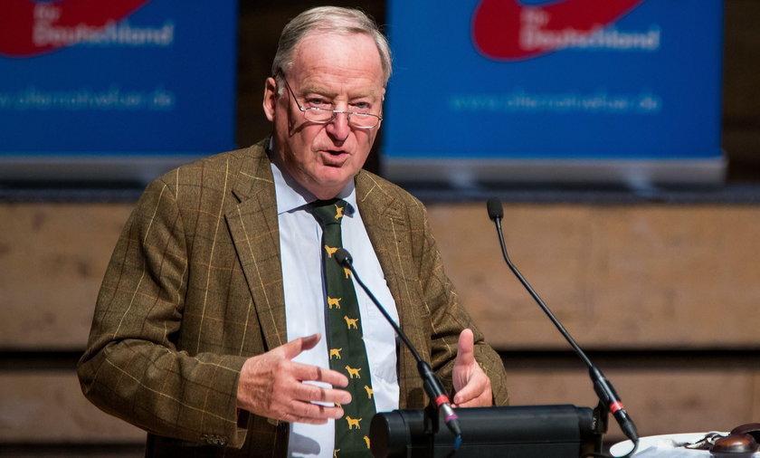 Niemiecki polityk Alexander Gauland uważa, że Niemcy powinni być dumni z żołnierzy  Wehrmachtu