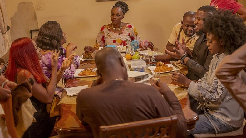 The cast of Judith Audu's new film, 'The Family' in a scene. [Judith Audu production]