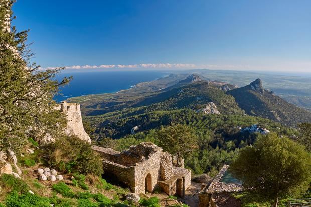 Cypr Północny, widok z zamku Kantara