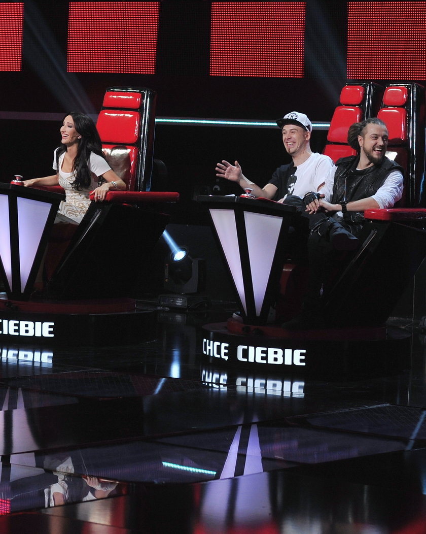 Od lewej: Justyna Steczkowska, Tomson i Baron