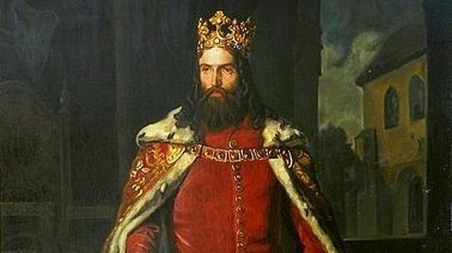 Obraz Leopolda Löfflera - Kazimierz Wielki - domena publiczna