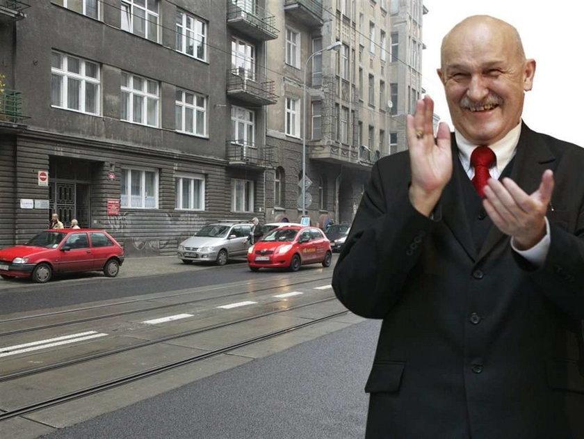 Zdrapali podwójną ciągłą dla prezydenta Łodzi