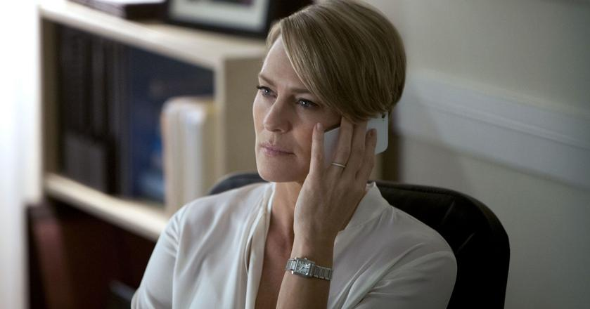"Robin Wright jako Claire Underwood w serialu ""House of Cards"""