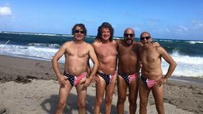 Zbigniew Wodecki, Piotr Gąsowski i Robert Rozmus na amerykańskiej plaży