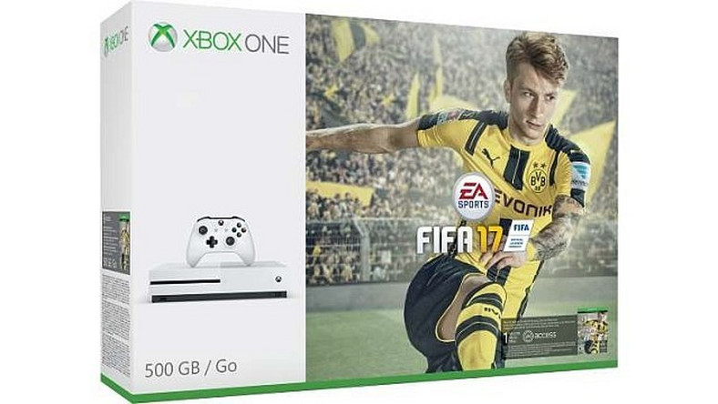 Xbox One S + kontroler + FIFA 17 + Gears of War 4 + Forza Horizon 3 za 1050 złotych!