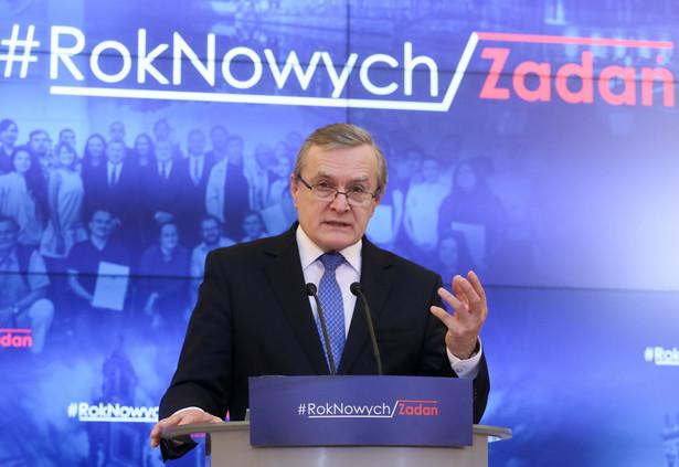 Minister kultury i dziedzictwa narodowego Piotr Gliński, PAP/Paweł Supernak