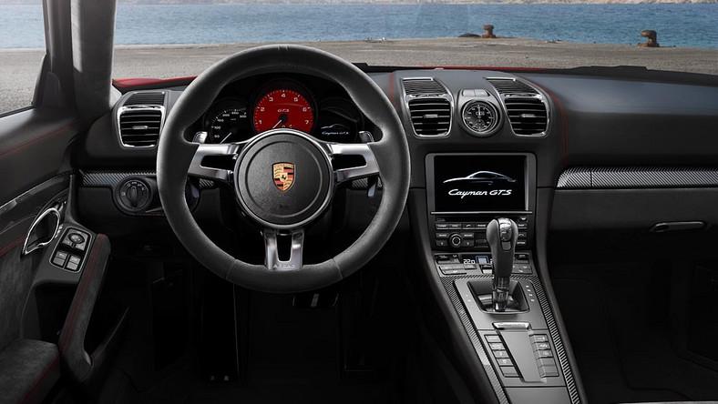 Dwa najszybsze samochody Porsche z silnikami montowanymi centralnie gotowe do startu - oto boxster GTS i cayman GTS. Oba auta od ich słabszych wersji wyróżnia zmodyfikowany przedni i tylny pas. Standardem są m.in. biksenonowe reflektory z systemem dynamicznego oświetlenia i polakierowane na czarny połysk oznaczenia.