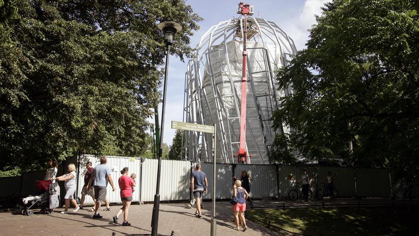 Palmiarnia W Parku Oliwskim Nadal W Budowie