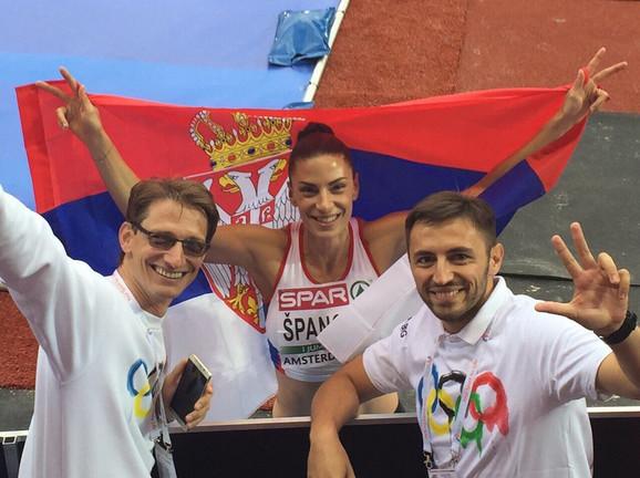 Ivana Španović slavi evropsko zlato
