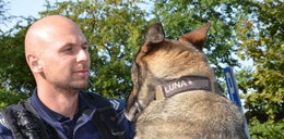 Policyjny pies Luna odszedł na emeryturę