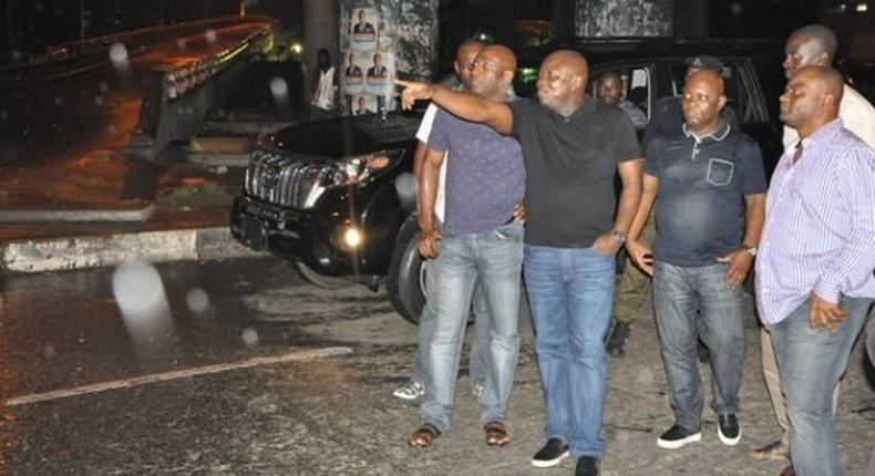 Gov. Ambode on patrol with security chiefs