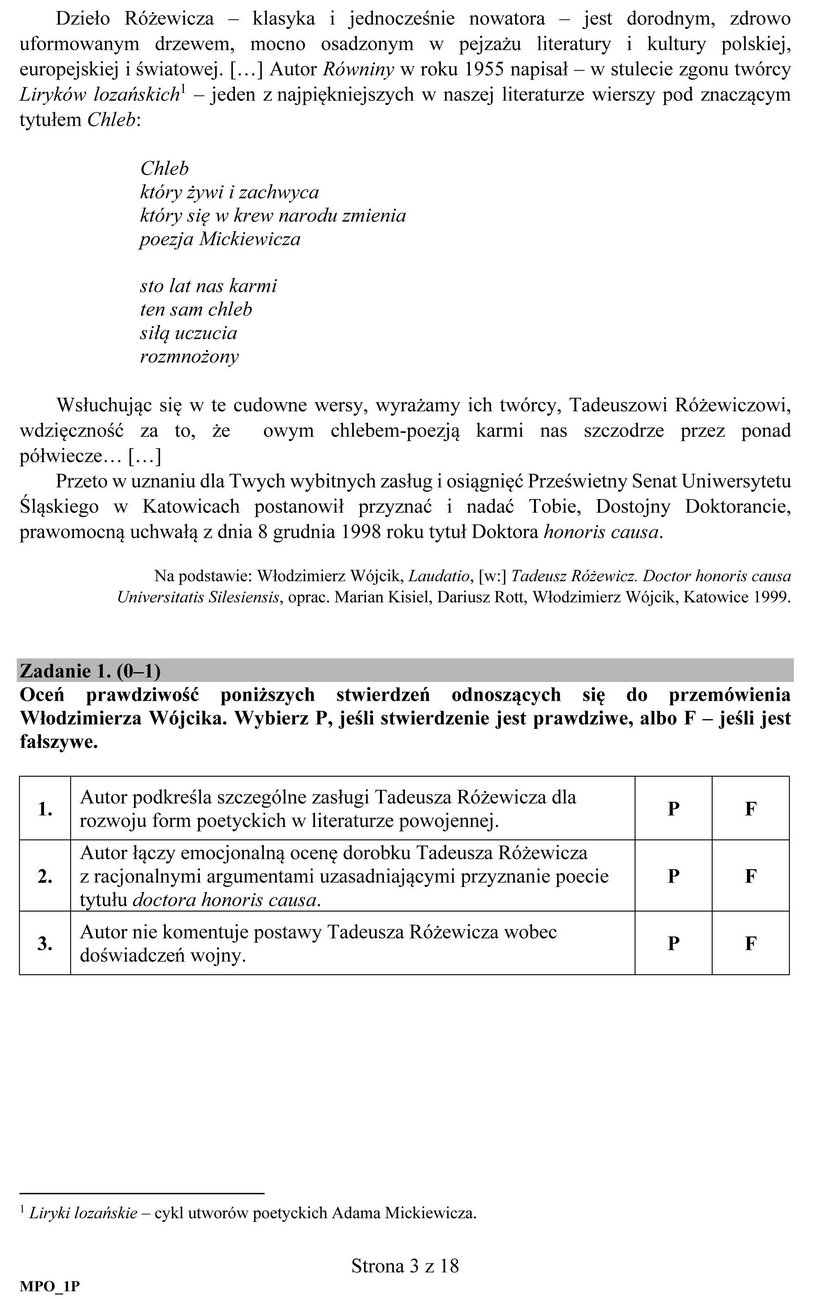 Matura 2018 język polski